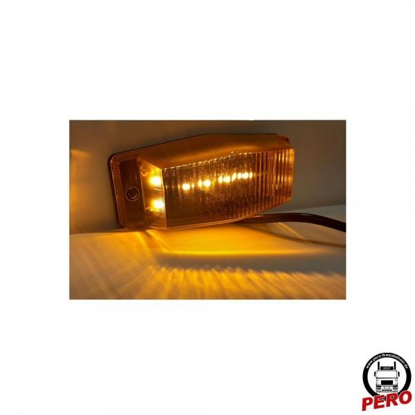 LED Begrenzungsleuchte Doubledutch-Design orange, Kühlergrillleuchte, Seitenmarkierungsleuchte