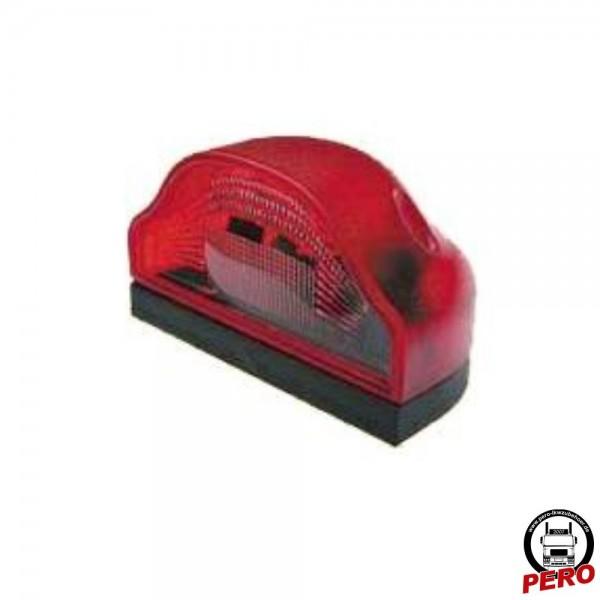 Aspöck Kennzeichenleuchte Regpoint mit roter Lichtscheibe