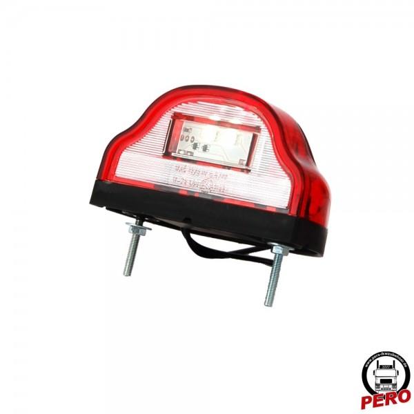 LED Kennzeichenleuchte mit roter Lichtscheibe