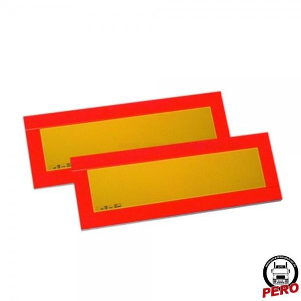 Kennzeichnungstafeln für Anhänger/Auflieger 195x565mm Alu ECE 70.01