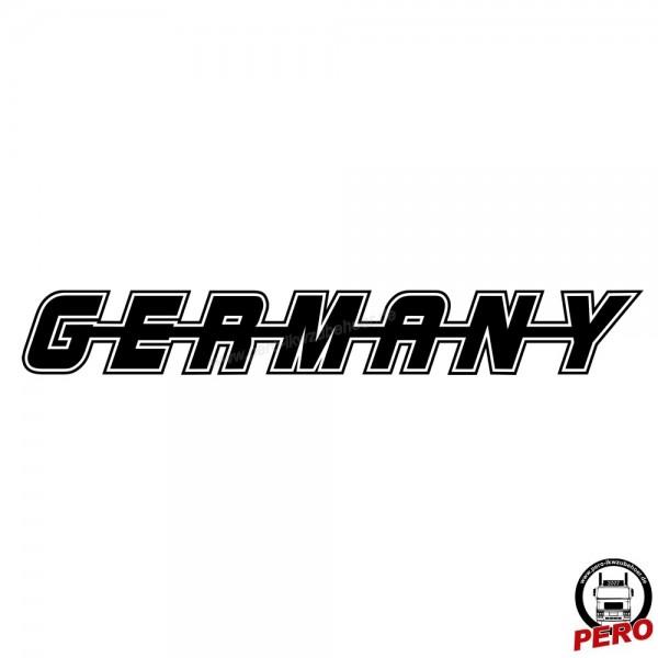 Aufkleber GERMANY als Schriftzug, mit Kontur 56cm