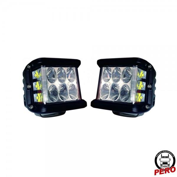 LED Arbeitsscheinwerfer SET, mit seitlichen LED