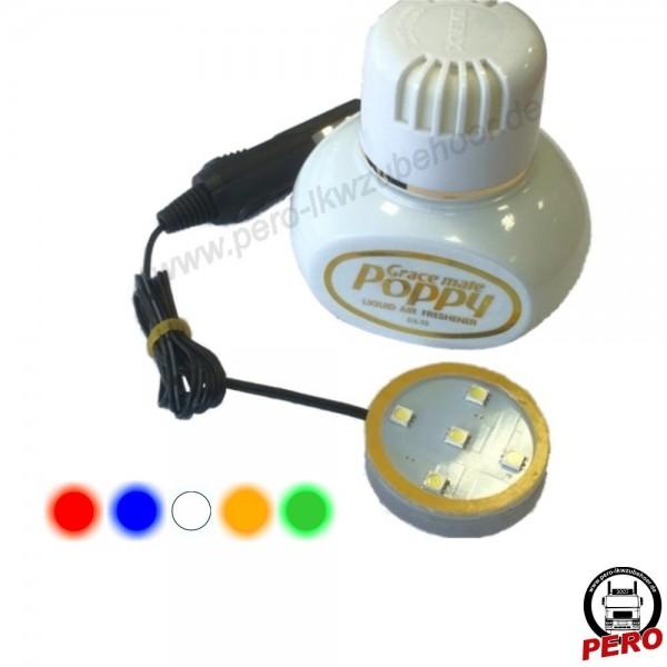 LED-Beleuchtung für Poppy Lufterfrischer 12-24V - erhältlich in 5 Farben!