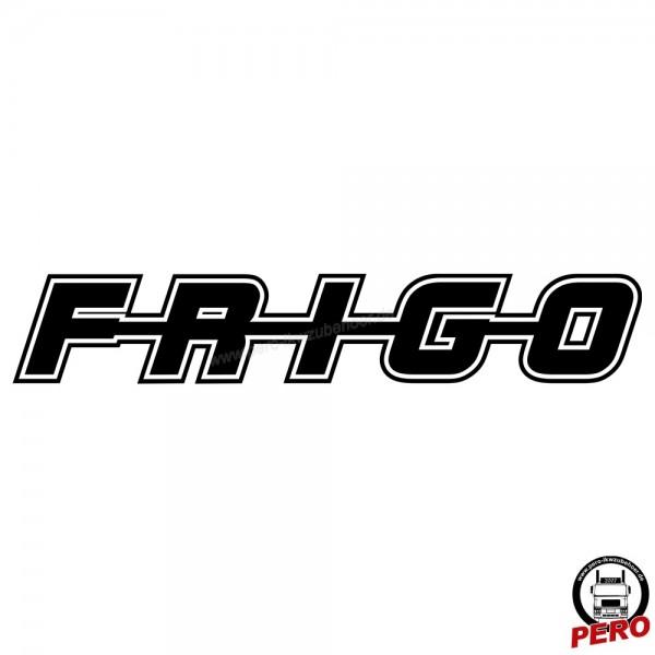 Aufkleber FRIGO als Schriftzug, mit Kontur 56cm