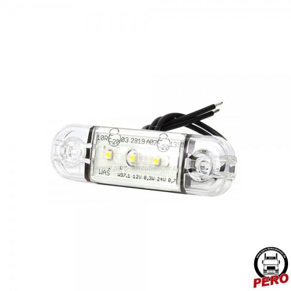 LED Positionsleuchte, Begrenzungsleuchte weiß, Slim-Version