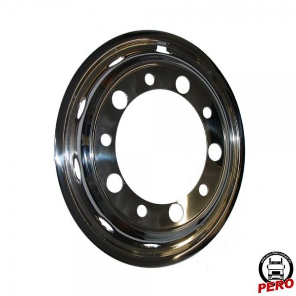 Felgenauskleidung aus Edelstahl 22,5 Zoll für Vorderachse (schmale Reifen)