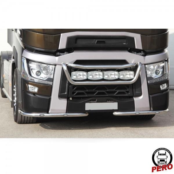 HS-Schoch Scheinwerferbügel, Lampenbügel unten aus Edelstahl Typ Tailor passend für Renault T
