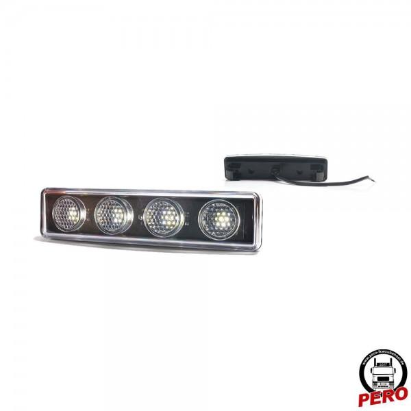 LED Positionsleuchte, Begrenzungsleuchte weiß passend für Scania R Lampenausschnitte