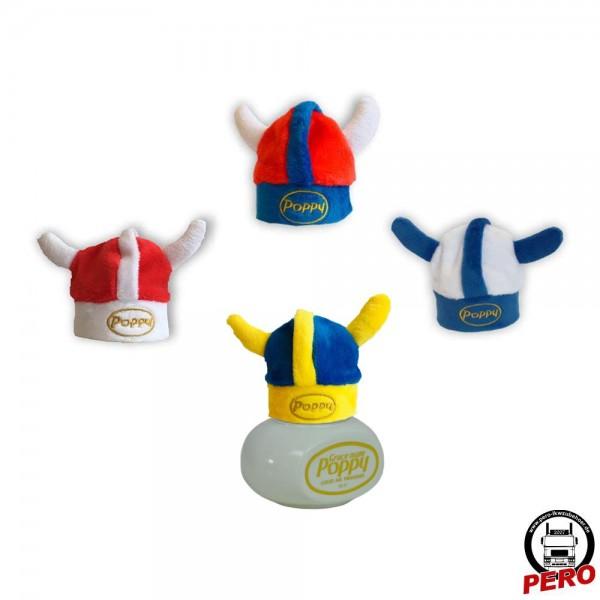 Vikinger Helm, Mütze für den Poppy Lufterfrischer in 4 Varianten