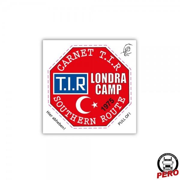 Aufkleber T.I.R. Londra Camp, Vignette für die Fahrzeugscheibe - Old School