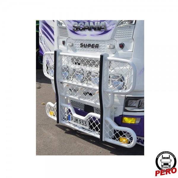 HYPRO Bullfänger, Rammschutz Alu mit Gitter-Optik passend für Scania R & S