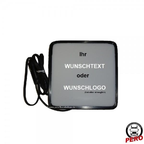 Leuchtbox LED für die Frontscheibe (Wunschmotiv) 24V