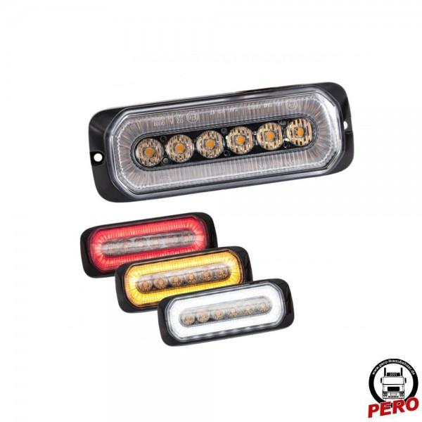 6er LED-Blitzer, Frontblitzer orange mit Positionslicht-Funktion, versch. Farben