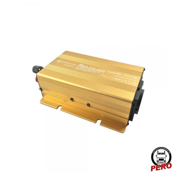Spannungswandler, Wechselrichter 24V / 230V - 300 Watt reiner Sinus, mit USB