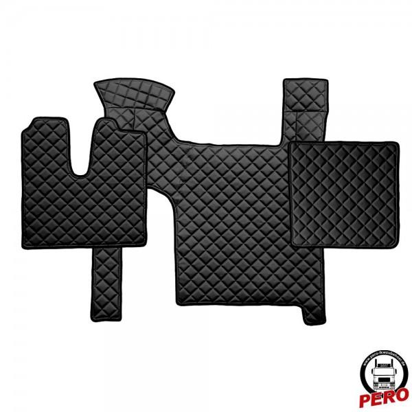 Kunstleder Fußmatten, Komplettset -Economy Line- passend für MAN TGX mit 2-Schubladen *Manuell*