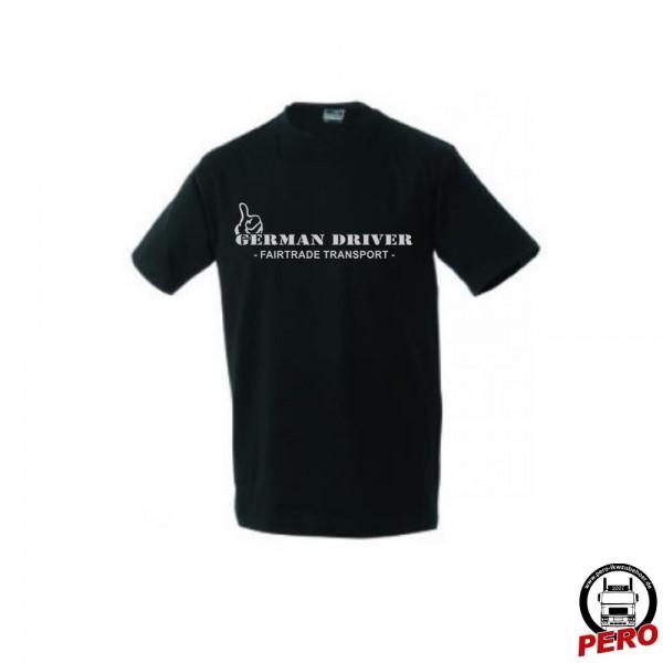 T-Shirt schwarz German Driver -Fairtrade Transport-