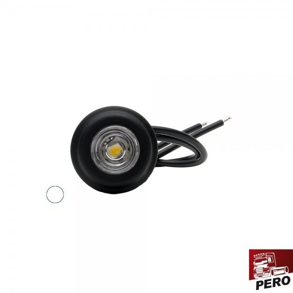 LED Positionsleuchte, Begrenzungsleuchte weiß, klein und rund