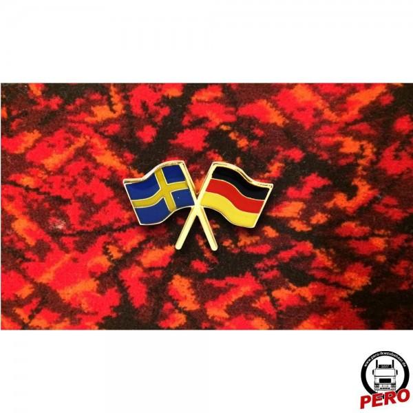 Pin, Anstecker Fahnen Sweden/Germany