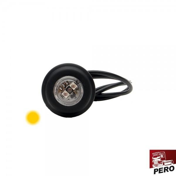 LED Positionsleuchte, Seitenmarkierungsleuchte orange, klein und rund
