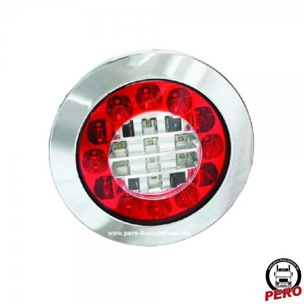Ermax LED Schluß-Brems-Blinkleuchte, Heckleuchte inkl. Chromring