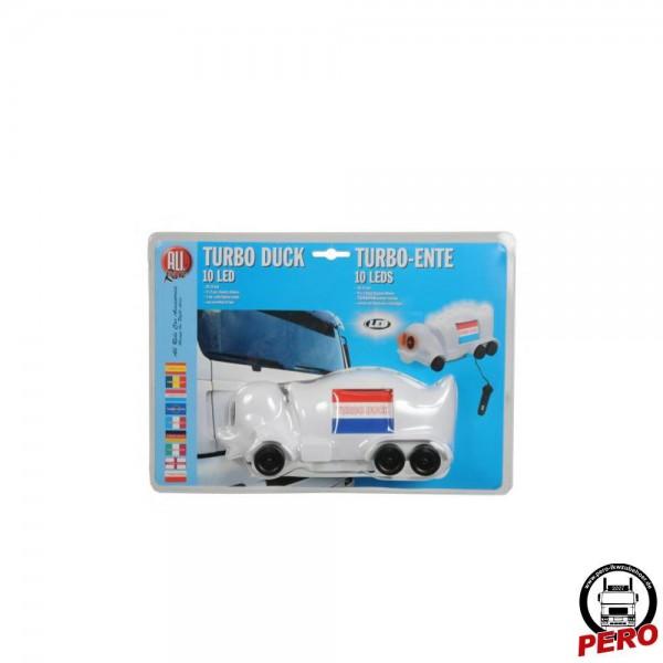 Turbo Duck / Truck Duck mit LED-Beleuchtung und Flaggenaufkleber *ABVERKAUF*