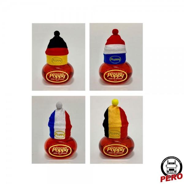 Deko Mütze, Beanie für den Poppy Lufterfrischer in 4 Varianten
