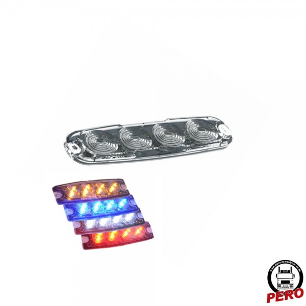 4er LED-Blitzer, Frontblitzer Ultra Slim, versch. Farben