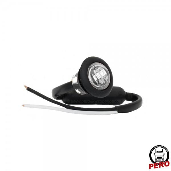 LED Positionsleuchte, Begrenzungsleuchte weiß, klein und rund - auch passend für LightFix