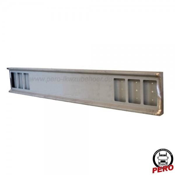 Heckstoßstange mit 6 Lampenausschnitten eckig, Stahl verzinkt