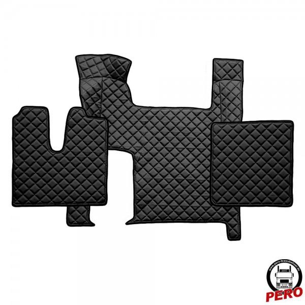 Kunstleder Fußmatten, Komplettset -Economy Line- passend für MAN TGX mit 2-Schubladen *Automatik*