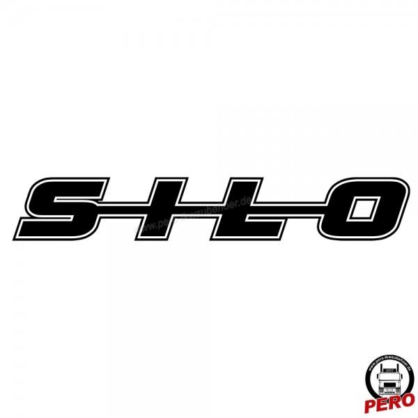 Aufkleber SILO als Schriftzug, mit Kontur 56cm