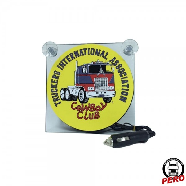 Leuchtbox für die Frontscheibe TIA Cowboy Club
