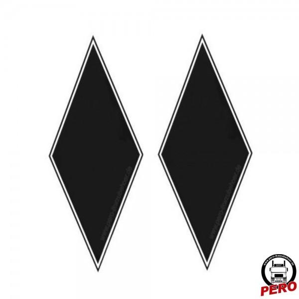Aufkleber-Set Rauten neutral 35x14cm rechts/links