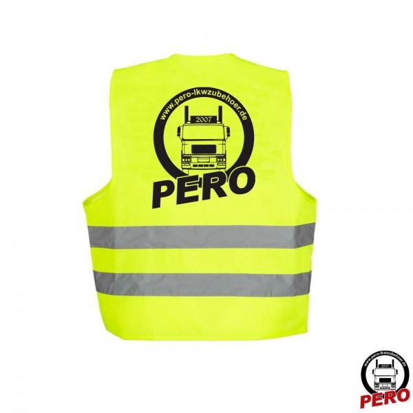 Warnweste, Sicherheitsweste mit PERO-Aufdruck