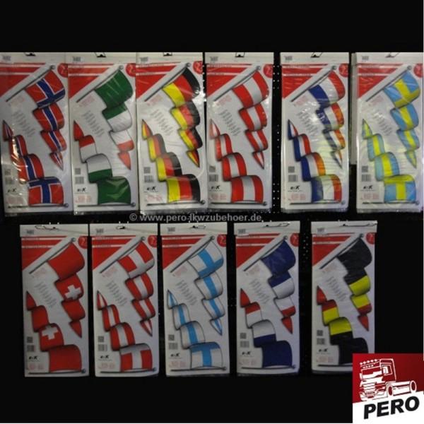 Aufkleber Länderflaggen wehend *Digitaldruck*