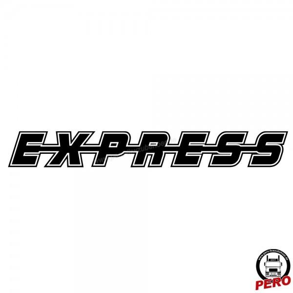 Aufkleber EXPRESS als Schriftzug, mit Kontur 56cm
