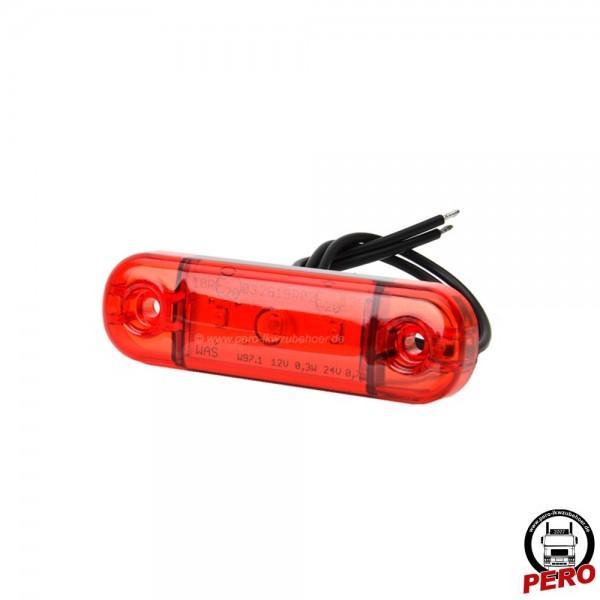 LED Positionsleuchte, Schluß/Begrenzungsleuchte rot, Slim-Version