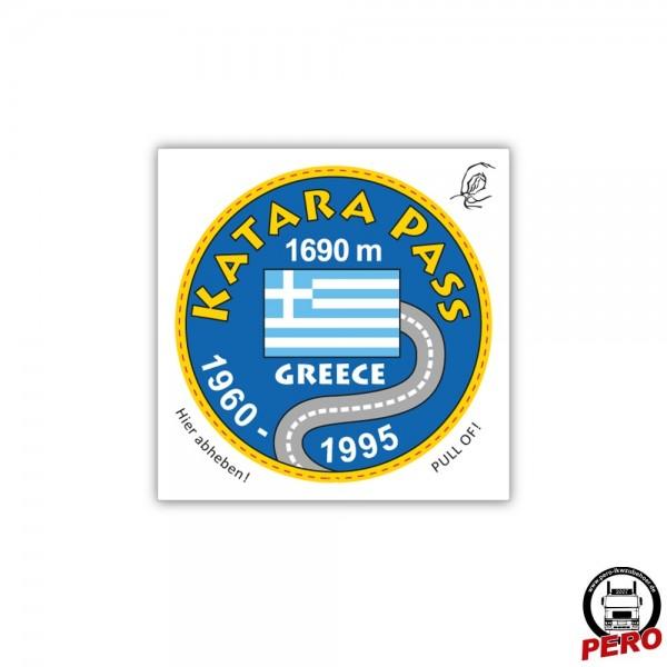 Aufkleber KATARA PASS, Vignette für die Fahrzeugscheibe - Old School