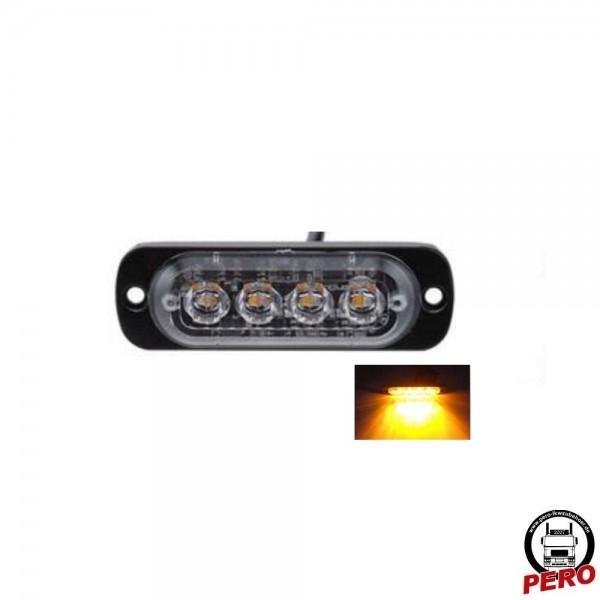 4er LED-Blitzer, Frontblitzer klein und flach
