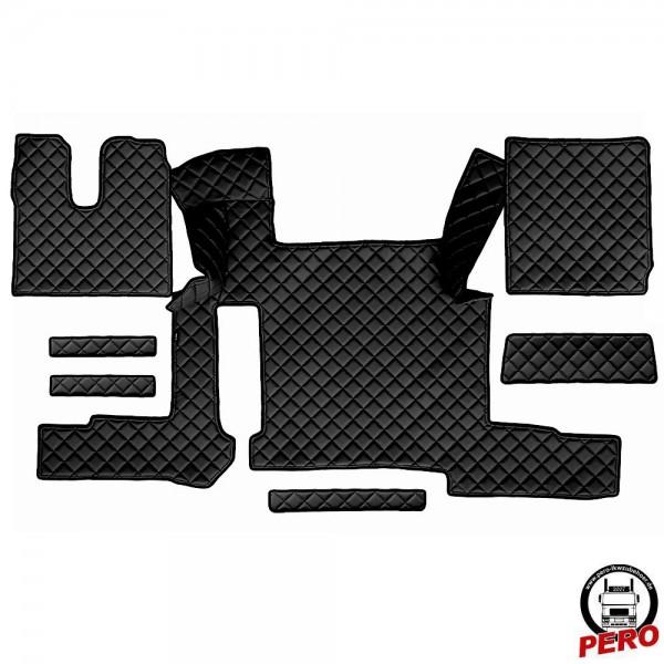 Kunstleder Fußmatten, Komplettset -Economy Line- passend für MAN TGX '18 mit 2-Schubladen *Manuell*