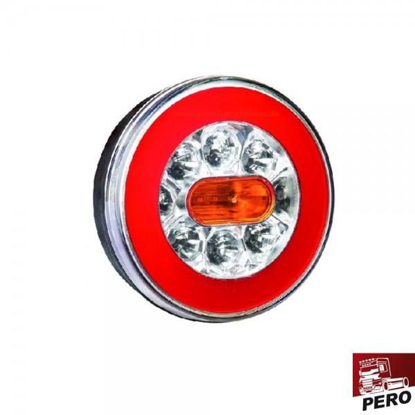 LED Schluß-Brems-Blinkleuchte mit Neon-Effekt, Heckleuchte
