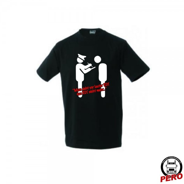 T-Shirt schwarz Cop sieht rot