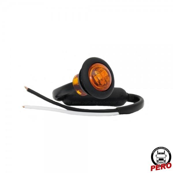 LED Positionsleuchte, Seitenmarkierungsleuchte orange, klein und rund - auch passend für LightFix